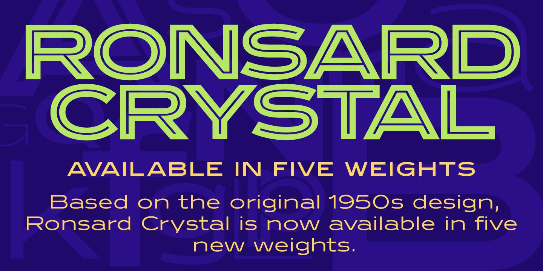 Ronsard Crystal Font Download